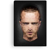 Jesse Pinkman - Portrait - Low Poly Canvas Print