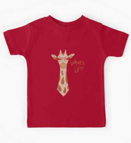 What's Up - Cute Kids Animal Lover Giraffe Kids Tee