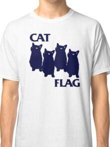 Get New Cat Flag Funny Black Flag Funny T-Shirts Classic T-Shirt