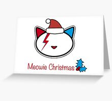 Meowie Christmas Greetings 2 Greeting Card