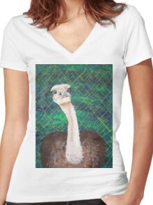 Ostrich Women's Fitted V-Neck T-Shirt