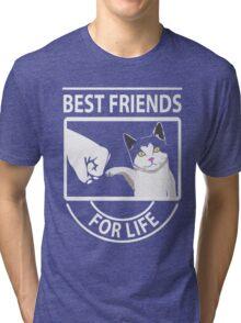 Cat best friends for life xmas shirt Tri-blend T-Shirt