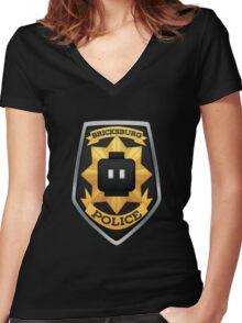 Bricksburg Police Women's Fitted V-Neck T-Shirt