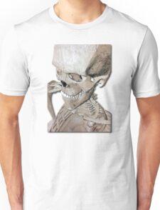 Skeleton Charcoal Illustration Drawing Artwork Unisex T-Shirt