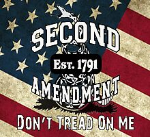 Gadsden Flag Don't Tread on Me 2nd Amendment Shirts, Stickers, Cases, Posters, Cards by 8675309