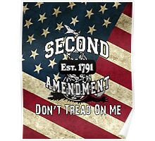 Gadsden Flag Don't Tread on Me 2nd Amendment Shirts, Stickers, Cases, Posters, Cards Poster