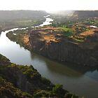 The Snake River Going Through Twin Falls, Idaho by trueblvr