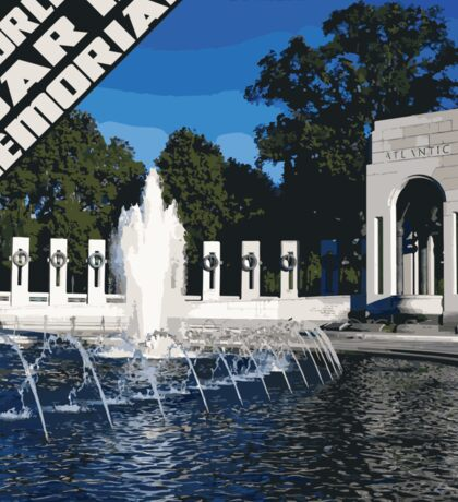 World War II Memorial square Sticker