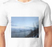 Snowy Norwegian River Unisex T-Shirt