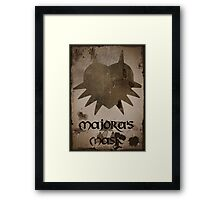 Faded Majora's Mask Framed Print