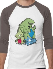 Terrific Tyrannic Dinosaurs Men's Baseball ¾ T-Shirt