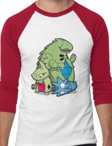 Terrific Tyrannic Dinosaurs Men's Baseball ¾ T-Shirt