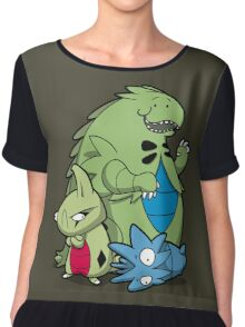Terrific Tyrannic Dinosaurs Chiffon Top