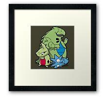 Terrific Tyrannic Dinosaurs Framed Print