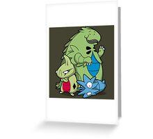 Terrific Tyrannic Dinosaurs Greeting Card