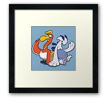 Gaurdian of the Sky and Sea Framed Print