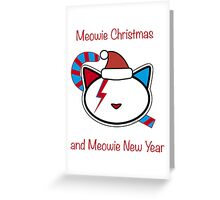 Meowie Christmas and Meowie New Year 2 Greeting Card