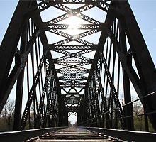 Sunshine Through the Train Bridge by Mark J Seefeldt