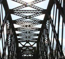 Sunshine Through the Train Bridge Sticker