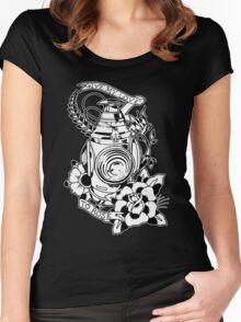Lantern tattoo design Women's Fitted Scoop T-Shirt