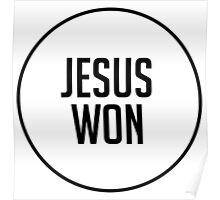 Jesus Won Poster