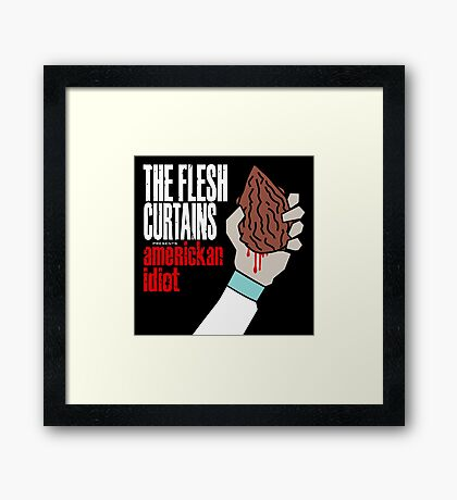 The Flesh Curtains - AmeRICKan Idiot Framed Print