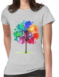 tree abstract Womens Fitted T-Shirt