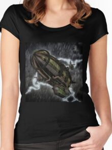 Steampunk Airship  Women's Fitted Scoop T-Shirt