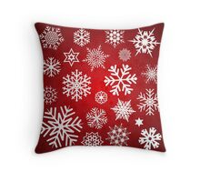 Christmas Snow flakes Throw Pillow