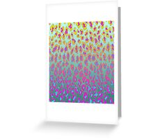 Neon Leopard Greeting Card