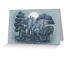 Midnight in the Stone Garden Greeting Card
