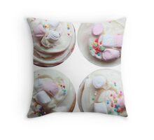 Marshmallows and sprinkles Throw Pillow