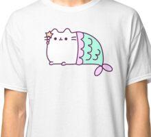 Cute Kawaii Cat Mermaid Classic T-Shirt