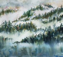 Trees in the Mist by DeniseMiller
