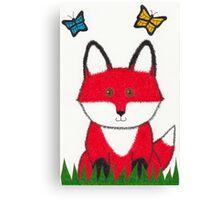 Ferdinand the Red Fox Art Canvas Print