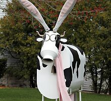 Easter Cow Sculpture by Mark J Seefeldt