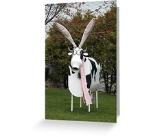 Easter Cow Sculpture Greeting Card