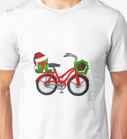 Christmas Bicycle Unisex T-Shirt