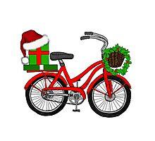 Christmas Bicycle Photographic Print