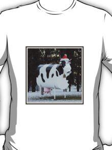 Christmas Cow Sculpture T-Shirt