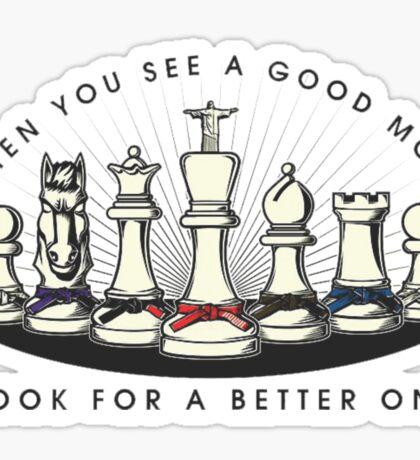 Martial Arts Chess Pieces Sticker