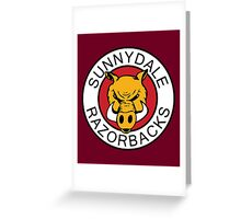 Sunnydale Razorbacks Series 1-3 Greeting Card