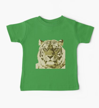 Tiger head in three colors Baby Tee