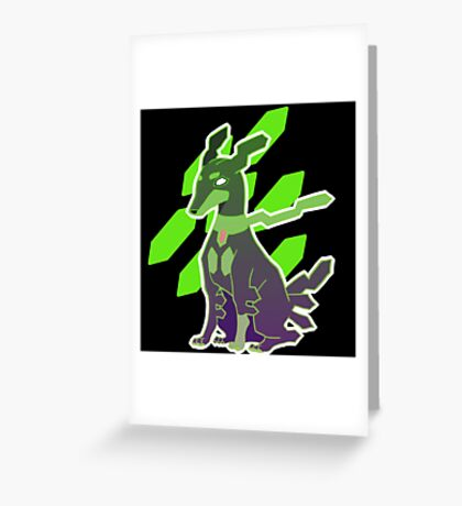 Zygarde 10% Form Greeting Card