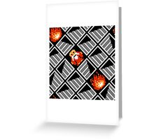 Take Any Road You Want / pattern / black Greeting Card