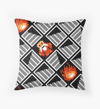 Take Any Road You Want / pattern / black Throw Pillow