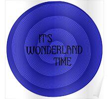 Wonderland Clock Poster