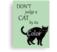 Cat Poster Canvas Print
