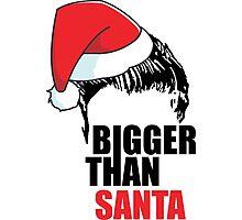 Bigger Than Santa- Justin Bieber - Belieber Christmas Photographic Print