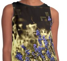Lavender in a yellow field Contrast Tank